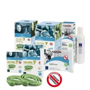 Kit Antiparassitari Shampoo Salviette Collare Leis