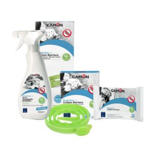 Kit Antiparassitari Spray Salviette Collare Barriera