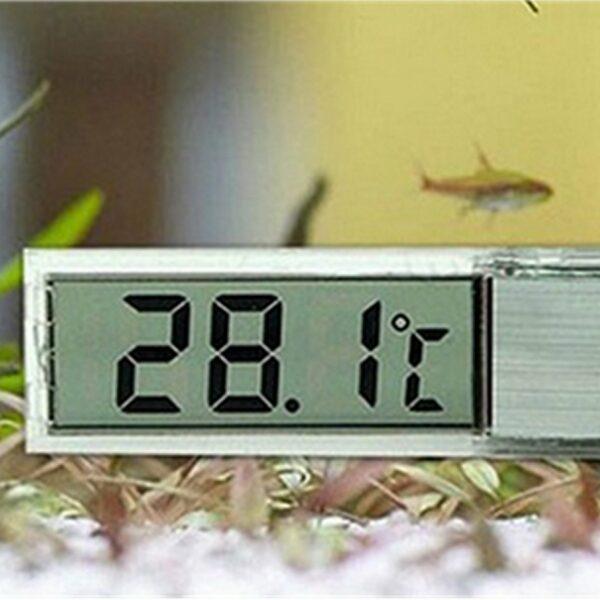 Termometro Digitale LCD per Acquario e Terrario LCD 3D Uso