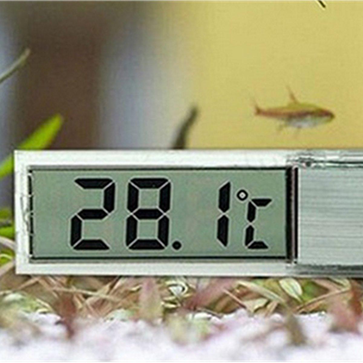 Termometro digitale lcd per acquario e terrario ulisse for Termometro per acquario tartarughe