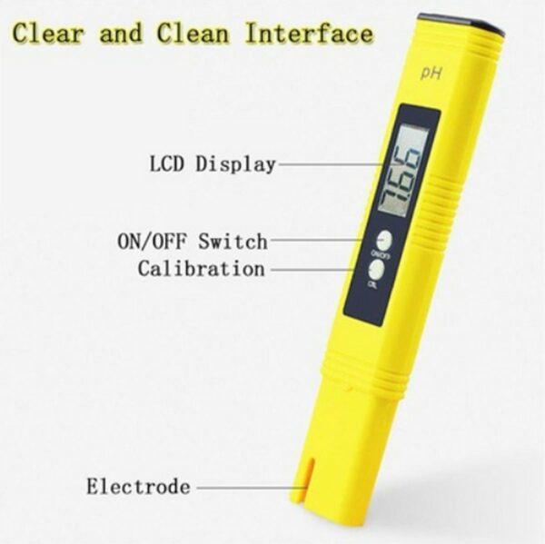 pHmetro digitale giallo leggibilità