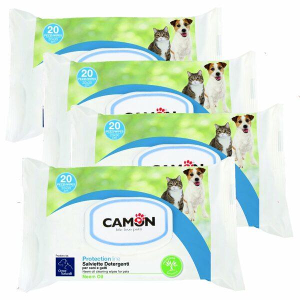 Salviette Detergenti Olio di Neem 4 Confezioni