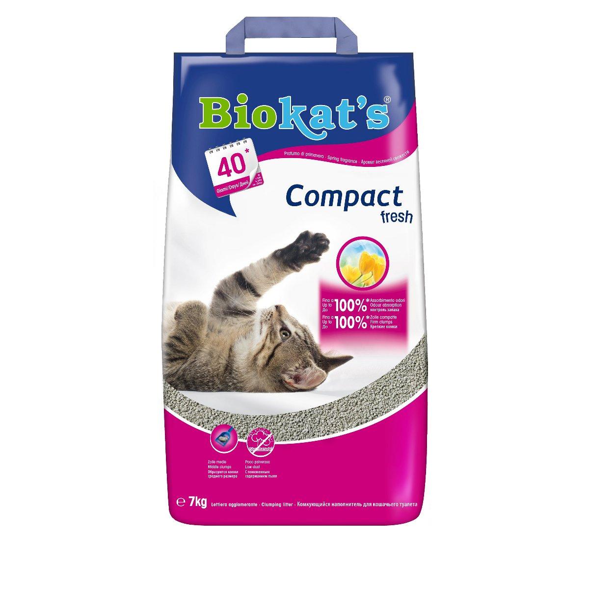 Biokat 39 s compact fresh lettiera agglomerante gatti for Migliore lettiera per gatti