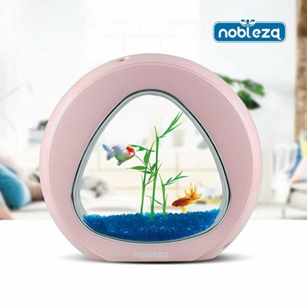 Mini Acquario Triangolo Nobleza rosa