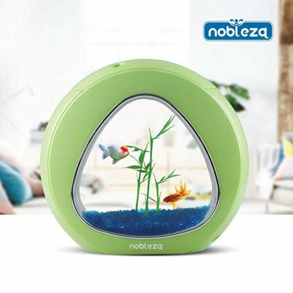 Mini Acquario Triangolo Nobleza verde