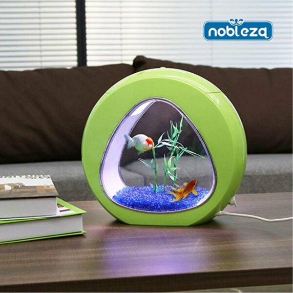 Mini Acquario Triangolo Nobleza verde salotto